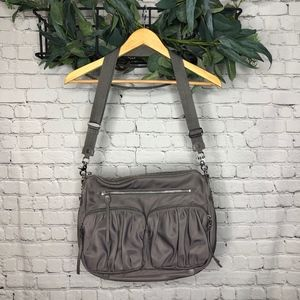 MZ Wallace Paige Crossbody Handbag in Dove Gray